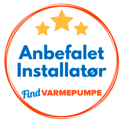 Anbefalet Varmepumpe installatør af Findvarmepumpe.dk
