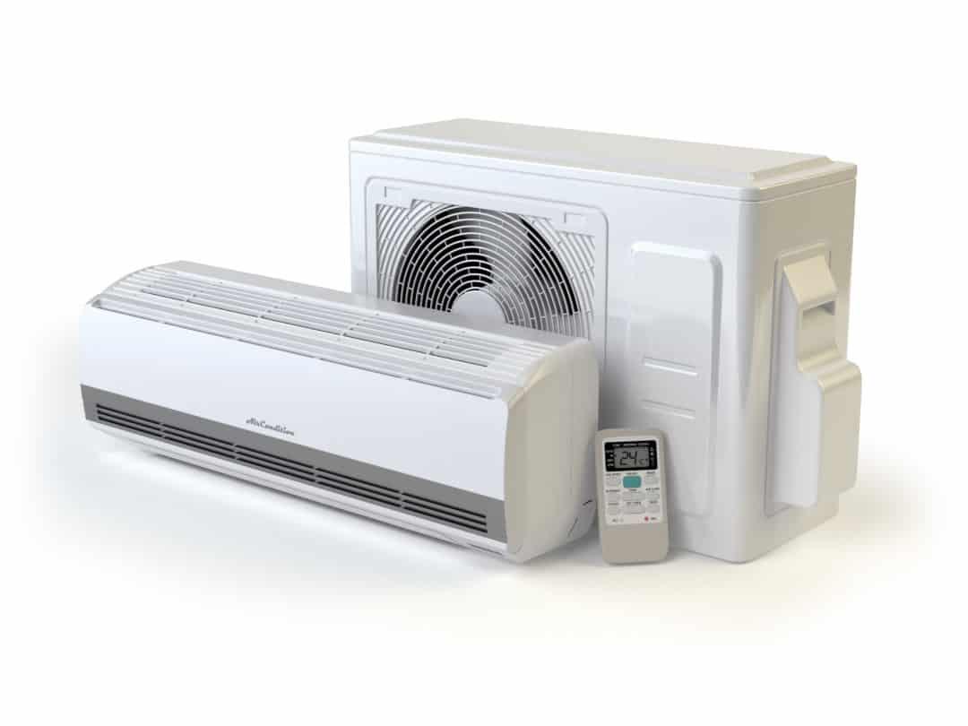 Hvid varmepumpe i flot design