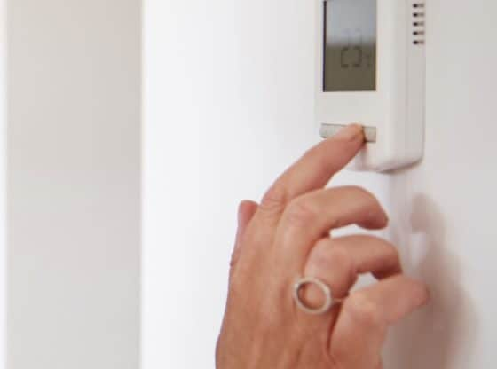 taster temperatur på varmepumpe